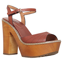 Buy KG by Kurt Geiger Maple Leather Clog Platform Sandals, Tan Online at johnlewis.com