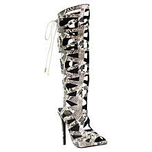 Buy KG by Kurt Geiger Hazard Caged High Heel Sandals, Beige/Multi Online at johnlewis.com