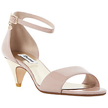 Buy Dune Marina Kitten Heel Two Part Sandals, Blush Patent Online at johnlewis.com