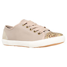Buy KG by Kurt Geiger Lucca Glitter Trainers, Nude Online at johnlewis.com