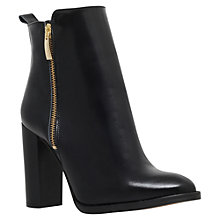 Buy Kurt Geiger Denning Contrast Side Zip Ankle Boots, Black Leather Online at johnlewis.com