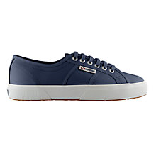 Buy Superga 2750 Flat Lace Up Trainers,  Navy Leather Online at johnlewis.com