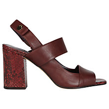 Buy Whistles Moko Peep Toe Slingback Sandals, Burgundy Leather Online at johnlewis.com