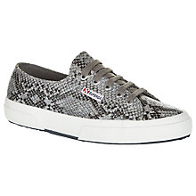 Buy Superga 2750 Flat Lace Up Trainers, Snake Print Cotton Online at johnlewis.com