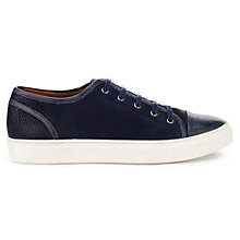 Buy Jigsaw Flat Lace Up Leather Trainers Online at johnlewis.com