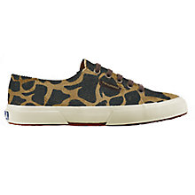Buy Superga 2750 Flat Lace Up Trainers, Leopard Print Leather Online at johnlewis.com