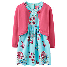 Buy Baby Joule Baby Bloom Dress and Cardigan Set, Teal/Pink Online at johnlewis.com