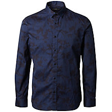 Buy Selected Homme + Kobenhavn Flower Spray Shirt, Black/Navy Online at johnlewis.com