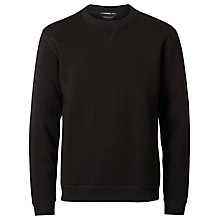 Buy Selected Homme + Kobenhavn Crew Neck Jersey Top, Black Online at johnlewis.com
