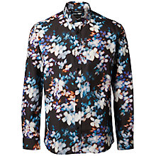 Buy Selected Homme Flower Blur Shirt, Black/Multi Online at johnlewis.com