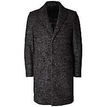 Buy Selected Homme + Kobenhavn Naples Coat, Black Online at johnlewis.com