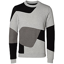 Buy Selected Homme + Kobenhavn Norrebro Geometric Jersey Top, Grey Online at johnlewis.com