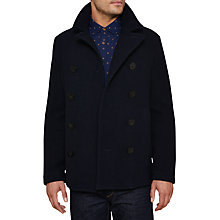 Buy Original Penguin Lance Melton Double Breasted Pea Coat, Dark Sapphire Online at johnlewis.com