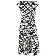 Buy Closet Diamond Wide Pleat Dress, Black / White Online at johnlewis.com