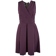 Buy Closet Lace Back Cross Over Dress, Burgundy Online at johnlewis.com