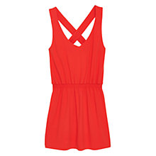 Buy Mango Crisscross Strap Dress, Bright Red Online at johnlewis.com