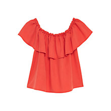 Buy Mango Ruffled Top, Dark Orange Online at johnlewis.com
