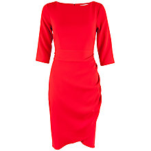 Buy Closet Drape Dress, Red Online at johnlewis.com