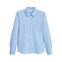 Buy Mango Denim Shirt, Blue Online at johnlewis.com