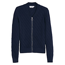 Buy Mango Textured Cotton Cardigan Online at johnlewis.com