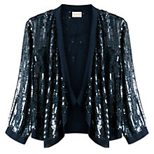 Buy East Sequin Cardigan, Navy Online at johnlewis.com