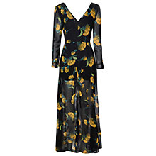 Buy True Decadence Maxi Dress, Black/Yellow Online at johnlewis.com