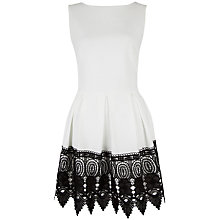 Buy Closet Box Pleat Dress With Lace Hem, Ivory Online at johnlewis.com