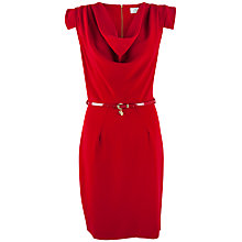 Buy Closet Cowl Neck Belted Dress, Crimson Online at johnlewis.com