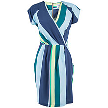 Buy Closet Stripe Wrap Over Dress, Multi Online at johnlewis.com