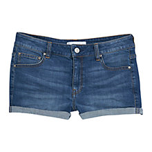 Buy Mango Medium Wash Denim Shorts, Open Blue Online at johnlewis.com