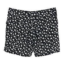 Buy Mango Textured Printed Shorts, Black Online at johnlewis.com