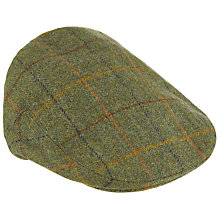 Buy Olney Check British Wool Hereford Flat Cap, Green Online at johnlewis.com