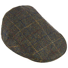 Buy Olney Check British Wool Hereford Flat Cap, Dark Green Online at johnlewis.com
