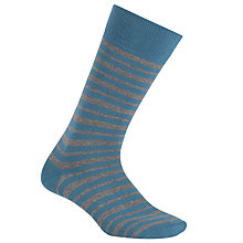Buy BOSS Marc Design Stripe Socks, Blue/Grey Online at johnlewis.com