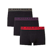Buy BOSS Stretch Cotton Coloured Waistband Trunks, Pack of 3 Online at johnlewis.com