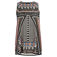 Buy Oasis Tribal Placement Print Top, Multi Online at johnlewis.com