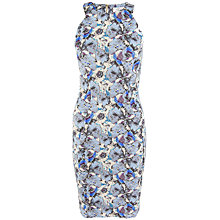 Buy Closet Floral Racer Dress, Dusky Blue Online at johnlewis.com