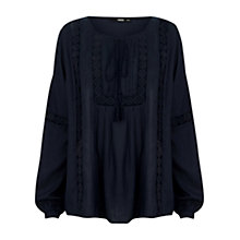 Buy Oasis Dobby Peasant Blouse Online at johnlewis.com