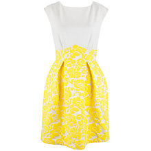 Buy Closet Floral Jacquard Dress, Yellow Online at johnlewis.com