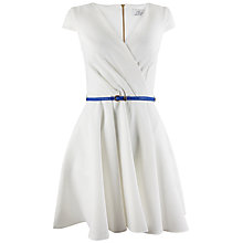 Buy Closet V-Neckline Belted Skater Dress, Ivory Online at johnlewis.com