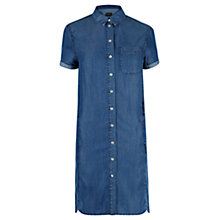 Buy Warehouse Dark Wash Denim Shirt Dress, Blue Online at johnlewis.com