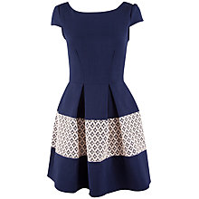 Buy Closet Lace Border V-Back Dress, Navy Online at johnlewis.com