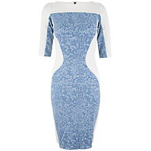 Buy Closet Denim Floral Bodycon Dress, Blue Online at johnlewis.com