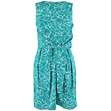 Buy Closet Leaf Print Tie Front Dress, Teal Online at johnlewis.com