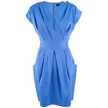 Buy Closet Cross Over Tulip Dress, Blue Online at johnlewis.com