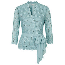 Buy Jacques Vert Jersey Cross Front Top, Light Blue Online at johnlewis.com