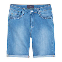 Buy Violeta by Mango Medium Wash Denim Shorts, Blue Online at johnlewis.com