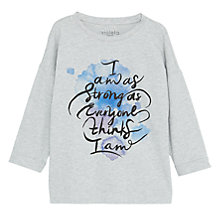 Buy Violeta by Mango Cotton-Blend Printed Message Sweatshirt, Medium Grey Online at johnlewis.com