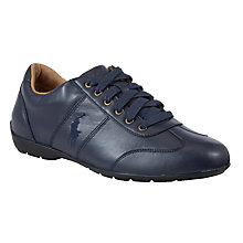 Buy Polo Ralph Lauren Lewes Leather Trainers, Newport Navy Online at johnlewis.com