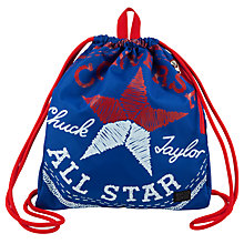Buy Converse Children's Drawstring Bag, Blue/Red Online at johnlewis.com